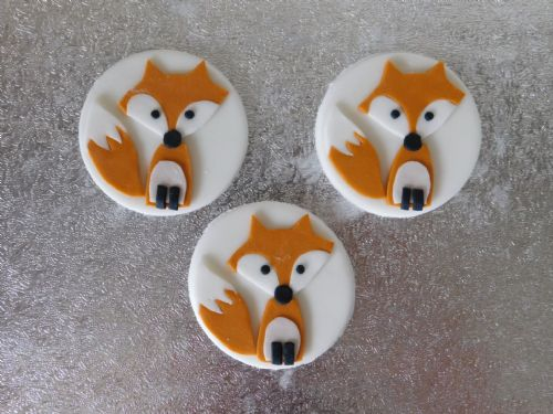 12 Fox Cupcake Toppers